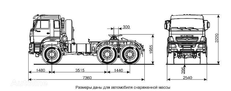 KAMAZ 65221  autotractor