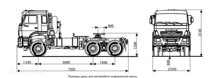 KAMAZ 65225 autotractor