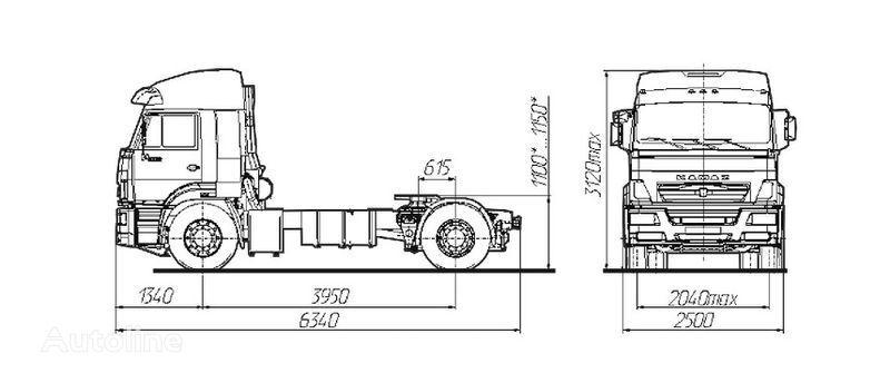 KAMAZ Sedelnyy tyagach KAMAZ-5460 autotractor