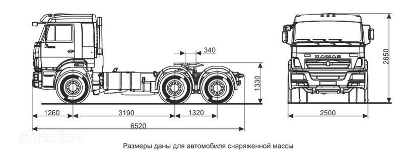 KAMAZ Sedelnyy tyagach KAMAZ-65116 (6h4) autotractor