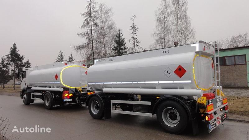 SCANIA DAF,MAN,VOLVO,MB camion cisternă combustibil nou + remorcă prelate