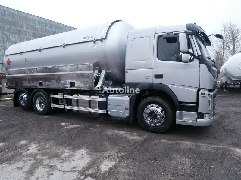 VOLVO camion cisternă pentru transport GPL + remorcă