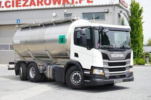 camion cisternă pentru transport lapte SCANIA P410 , E6 , 6X2 , 20.000km ! ! ! , 2 units , steer/lift axle , 3
