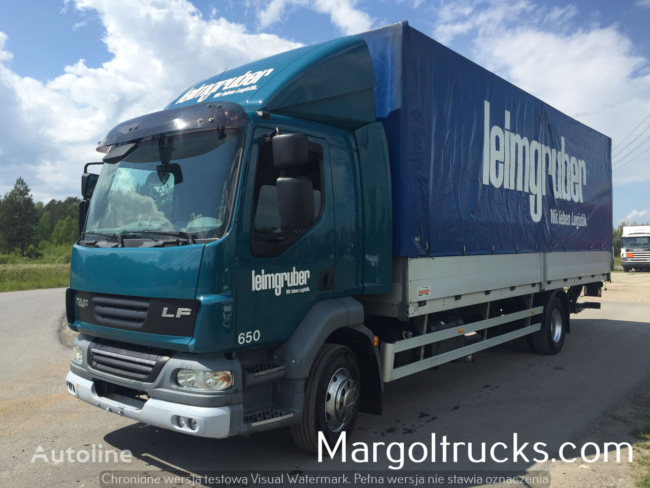 DAF LF 55 250 burta plandeka winda camion cu prelata