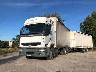 camion cu prelata RENAULT PREMIUM  420 DCI + biga Omar