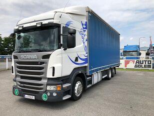camion cu prelata SCANIA R420 LB6x2 flatbed