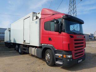 camion frigorific SCANIA R380 multitemp + Schmitz multitemp + remorcă frigorific