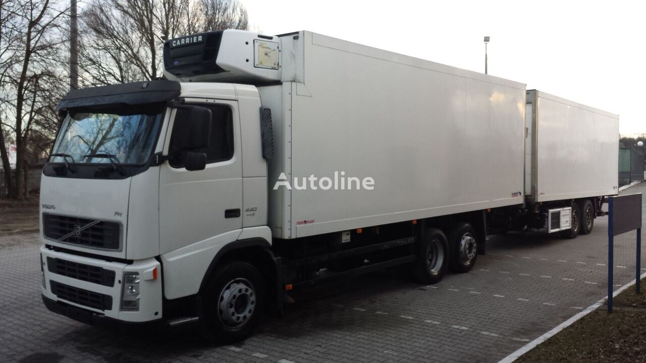 VOLVO FH440 Chłodnia + Przyczepa Tandem 2 x winda ! 12.2008 36EP Euro5 camion frigorific + remorcă frigorific