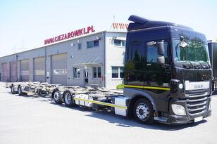 camion pentru transport containere DAF XF 460 SC , E6 , 6X2 , BDF + Wecon 2 axles trailer , BDF SET + remorcă şasiu