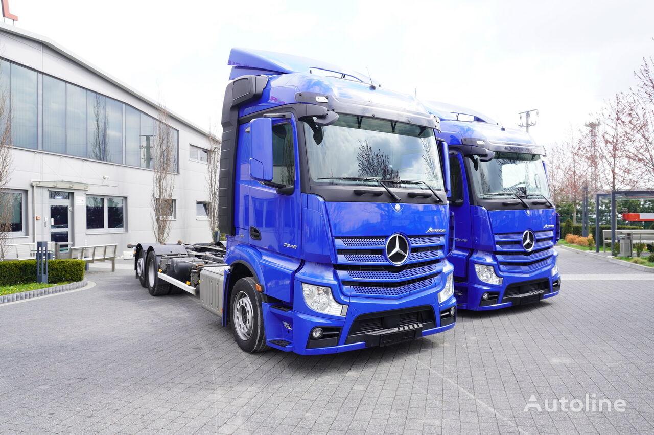 camion pentru transport containere MERCEDES-BENZ Actros 2548 , E6 , 6x2 , MEGA , 190.000km , BDF / chassis 7,7m