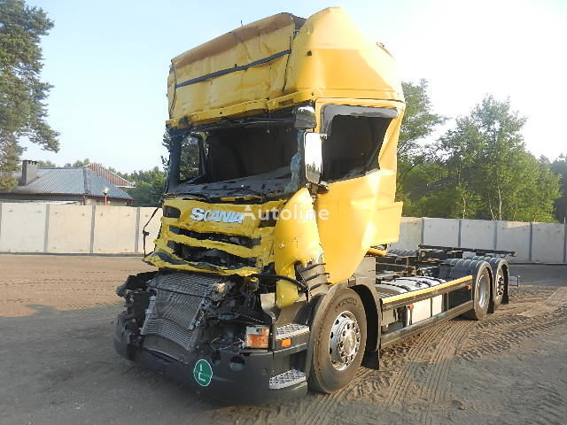 SCANIA R 440 6X2 BDF - EURO 6 - 2013 r. camion pentru transport containere accidentate