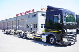 camion şasiu DAF XF 460 SC , E6 , 6X2 , BDF + Wecon 2 axles trailer , BDF SET + remorcă şasiu