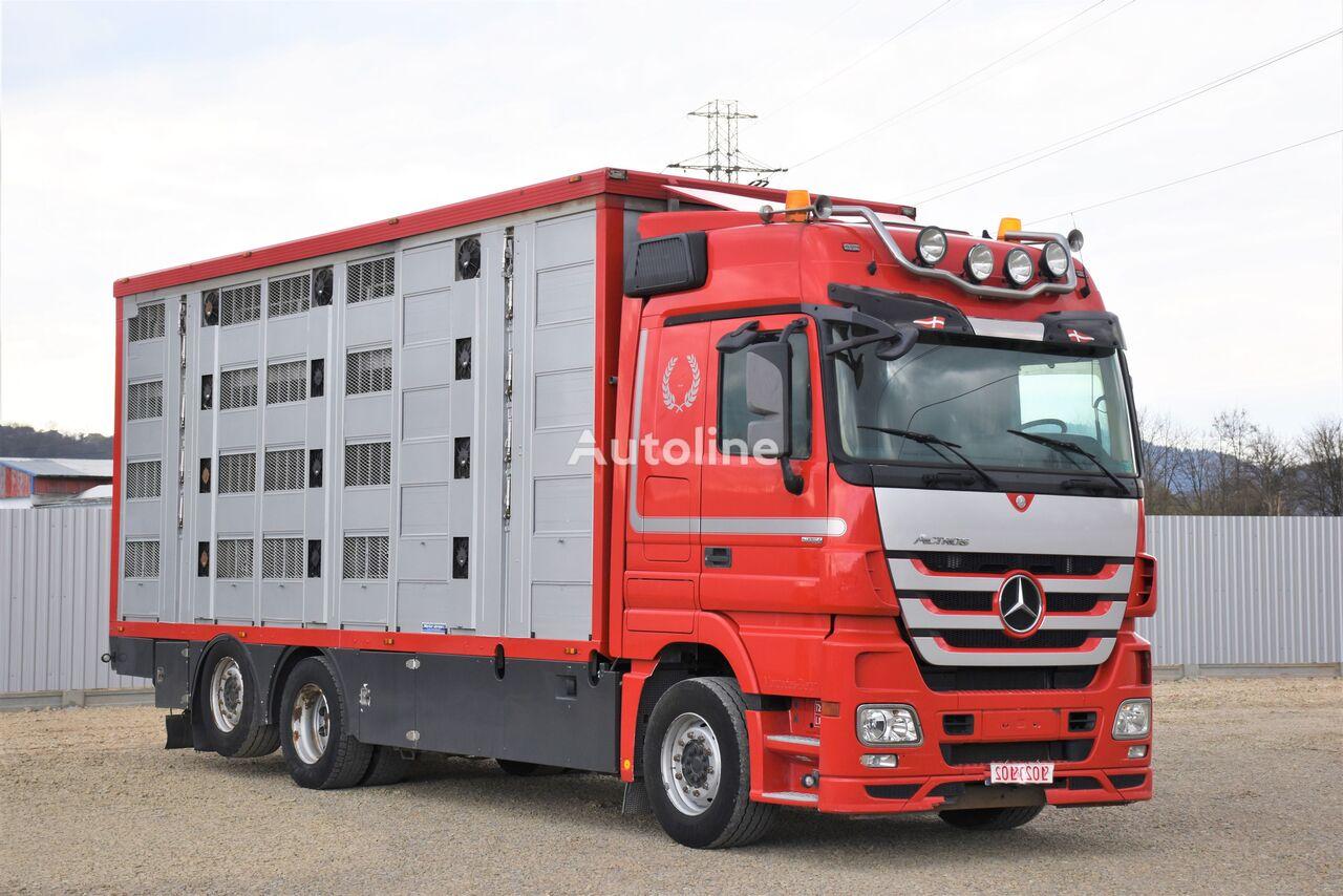 camion transport animale MERCEDES-BENZ ACTROS 2548 TIERTRANSPORTWAGEN 7,40m / 3STOCK