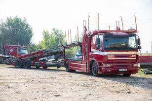 camion transport auto DAF Trailer FA CF75 + remorcă transport auto