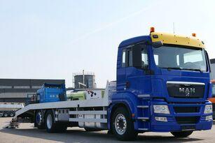 camion transport auto MAN TGS 26.400 6x2 Csörlővel és rámpával