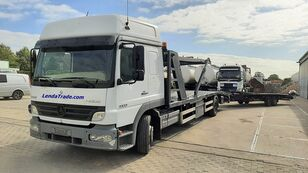 camion transport auto MERCEDES-BENZ Atego 1323 / 7 Cars / Winch / Airco + remorcă transport auto