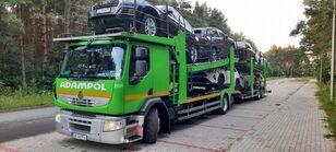 camion transport auto RENAULT Premium 410 + remorcă transport auto