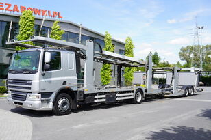 camion transport auto DAF CF 75 360 , E5 , 4x2 ,MEGA , LOHR , retarder , sleep cab + remorcă transport auto
