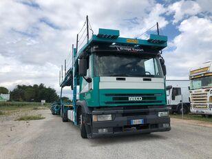 camion transport auto IVECO EUROTECH bisarca veicoli + biga Rolfo