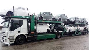 camion transport auto IVECO STRALIS 450 + remorcă transport auto