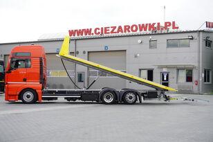 camion transport auto MAN TGX 26.440 XXL , E6 , 6X2 , NEW BODY 7,5m , hydraulic , 2x winch