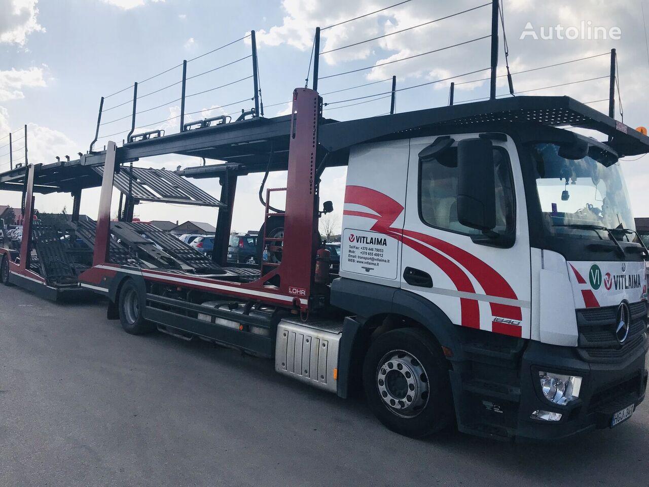 camion transport auto MERCEDES-BENZ Actros 1840 Euro 6 + Lohr CHR + remorcă transport auto