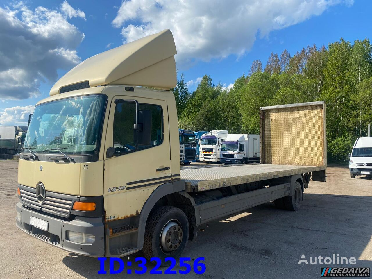 camion transport auto MERCEDES-BENZ Atego 1218 - Full steel - Manual