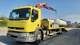 camion transport auto RENAULT Premium 250.19 Crane Winch