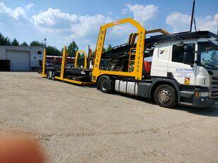 camion transport auto SCANIA Eurolohr + remorcă transport auto