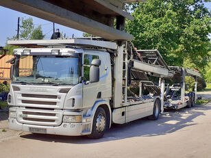 camion transport auto SCANIA P420 + remorcă transport auto