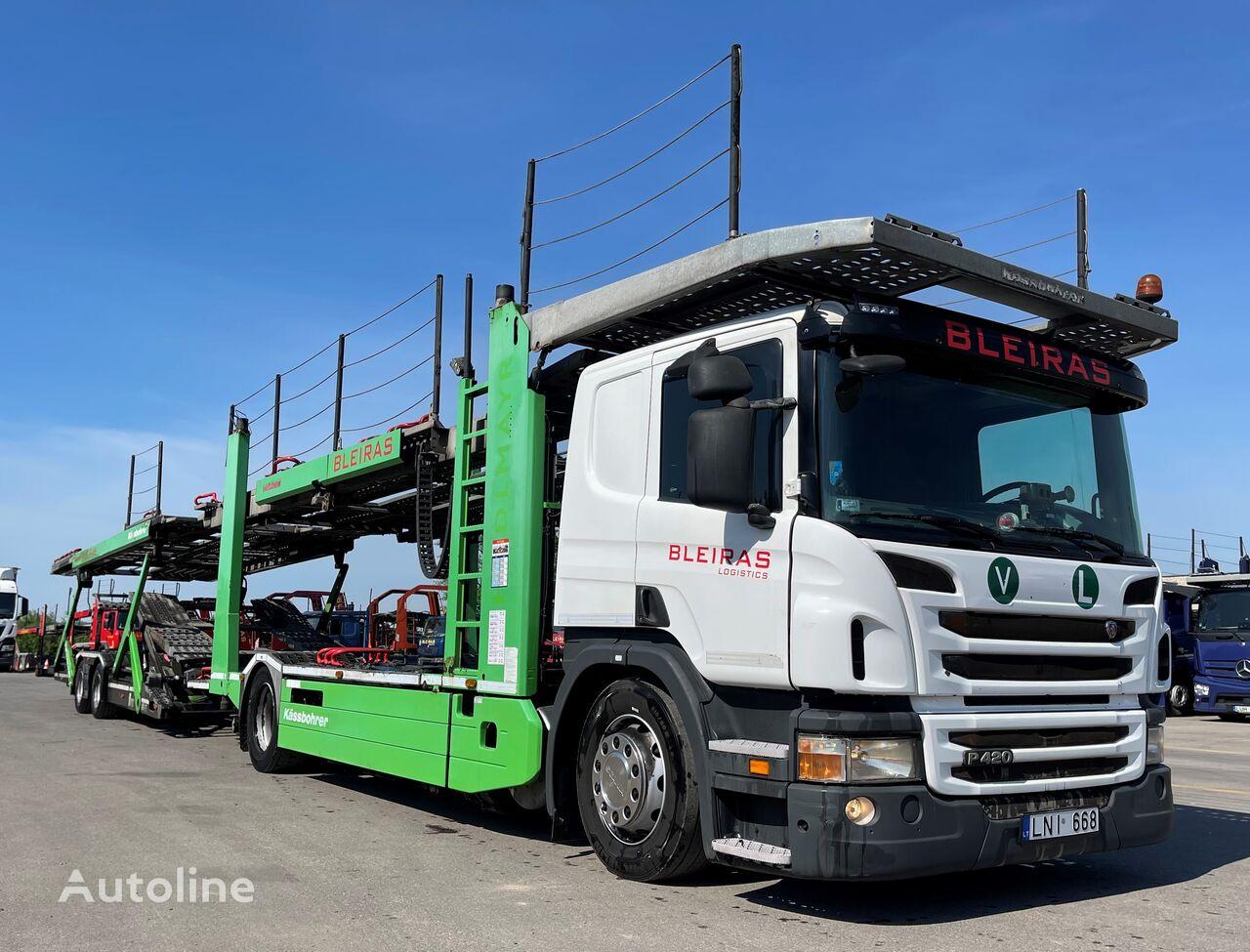 camion transport auto SCANIA P420 Kässbohrer SUPERTRANS