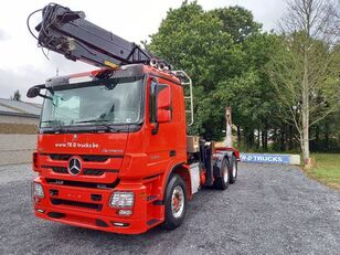 camion transport de lemne MERCEDES-BENZ Actros 3360 -6x4-hiab crane-steel suspension-alcoa