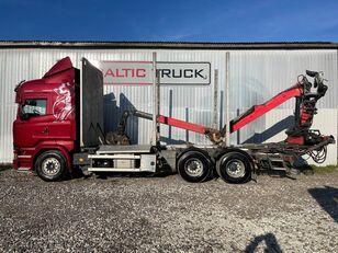 camion transport de lemne SCANIA R580, 6x4 + CRANE, EURO6, RETARDER