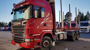 camion transport de lemne SCANIA R560 6x4