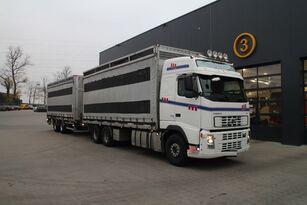 camion transport păsări VOLVO FH12.480 6x4 + remorcă furgon