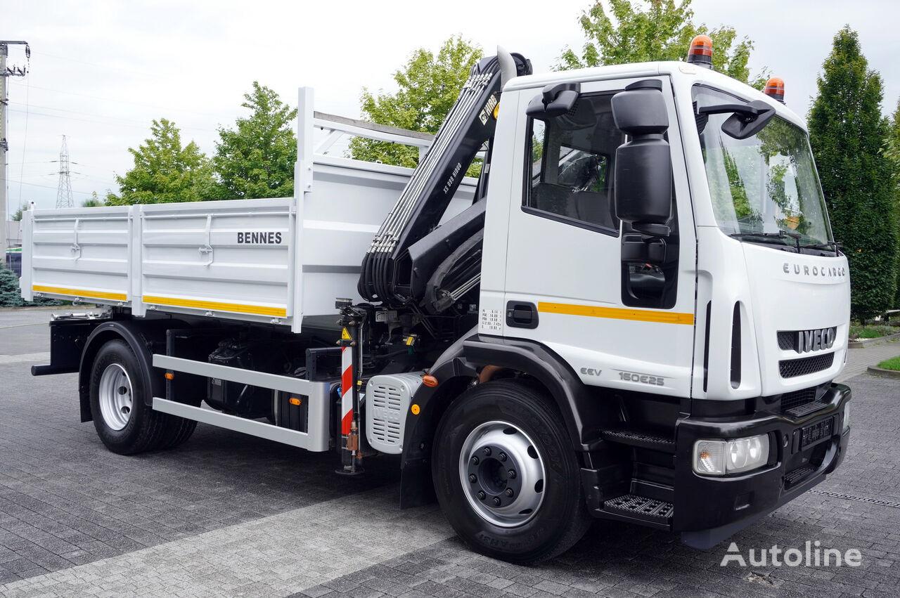 dropside camion IVECO Eurocargo 160E25 , EEV , 4X2 , tipper + Crane , Remote Control