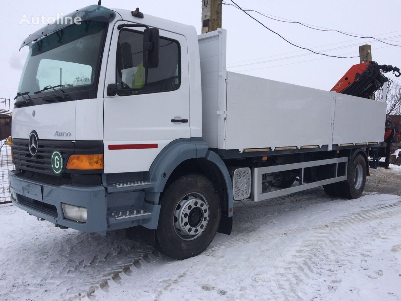MERCEDES-BENZ ATEGO 1828 Palfinger PK 13000 dropside camion