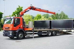 tractari auto IVECO Stralis 360, EEV, 6x2, 7.8m tow truck, lift axle , CRANE HIAB ma