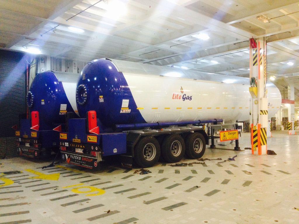YILTEKS Semi Trailer LPG Tank 57m3 cisternă LPG nouă