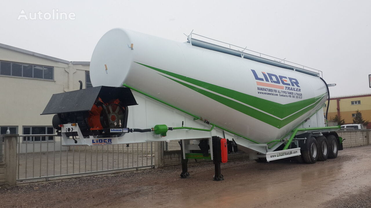 cisternă transport ciment LIDER 2019 NEW 80 TONS CAPACITY  FROM MANUFACTURER READY IN STOCK nouă