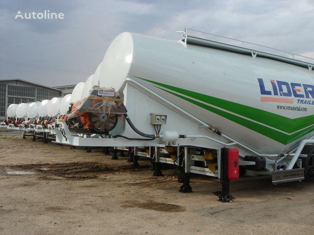 LIDER NEW ciment remorque 2017 YEAR (MANUFACTURER COMPANY) cisternă transport ciment nouă