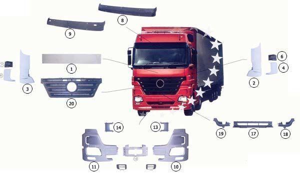9437500518 capota fata pentru MERCEDES-BENZ ACTROS MP2 camion nou