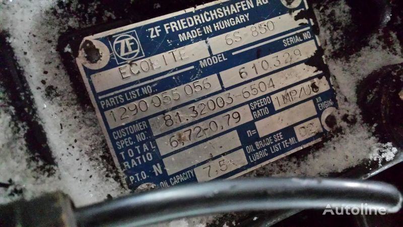 ZF 6S850 cutie de viteze pentru MAN L2000 camion