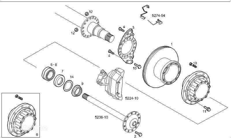2995812 2996328 7185503 7189476 disc frână pentru IVECO STRALIS camion nou