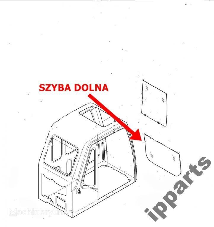 geam auto pentru DAEWOO 225 Solar dolna 903-00049 koparka 140 excavator