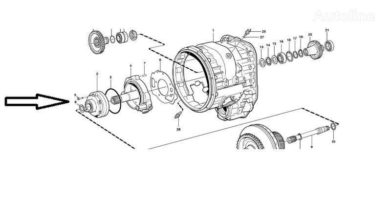 Pompa VOE11145264 VOLVO piese de schimb pentru VOLVO L180E încărcător frontal
