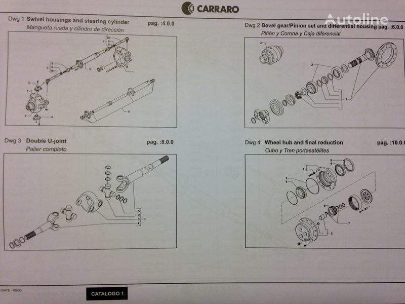 CARRARO punte motoare pentru CATERPILLAR excavator