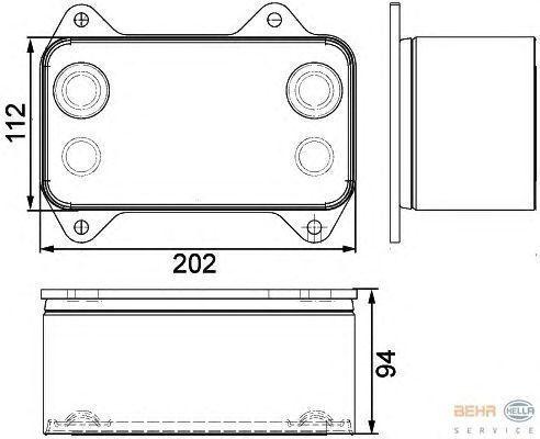 DAF 1667565.8MO376733421 radiator de racire pentru motoare pentru DAF XF.CF autotractor nou