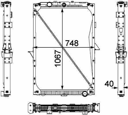 1674136. 1692332. 1739550 .1856628. 8MK376 733-7111861737. 1861737R radiator de racire pentru motoare pentru DAF XF95.105XF camion nou