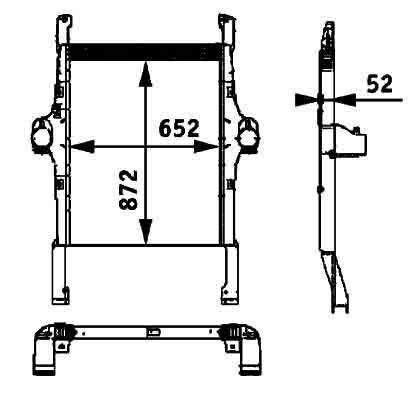 IVECO 41214448.8ML 376 724-251 BEHR HELLA radiator de racire pentru motoare pentru IVECO STRALIS autotractor nou
